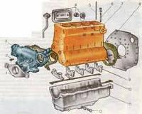 Блок цилиндров (картер) А-41 440-01С2.30