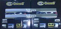 Накладка  на пороги Laser-style (2 шт, сталь) - Mercedes Vito W638 (1996-2003)