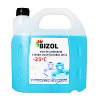 Зимний омыватель стекла концентрат BIZOL WINTER SCREEN WASH -80C (мята) 4л