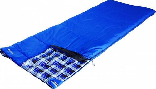 Комфортный спальный мешок High Peak Highland / +4°C (Left) blue, 923011, синий