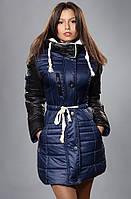 Модная куртка модель со съемным капюшоном