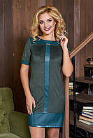 Короткое женское зеленое платье Илиада 44-50 размеры