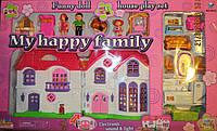 Дом Моя счастливая семья 46*25 см, свет, музыка