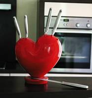 """Подарочный набор столовых ножей любимой """"Сердце"""""""