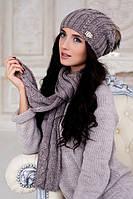 Комплект Эйфория (шапка и шарф) 4253-10