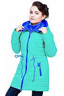 Стильное демисезонное пальто для девочки мятного цвета