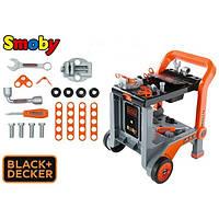 Детская Мастерская тележка с инструментами игрушечная Black & Decker Smoby 360200