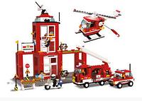 """Конструктор SLUBAN """"Пожарный центр ― Пожарные спасатели"""" 631 деталь арт. M38-B3100"""