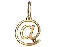"""""""dot.com"""" - маленькая золотая подвеска 585* пробы"""