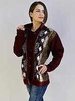 Вязаный свитер  большого размера