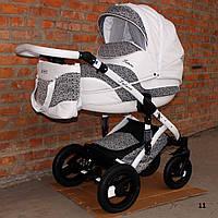 Универсальная коляска 2 в 1 Aneco Futura Ecco кожа
