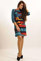 """Стильное платье с ярким модным принтом из джерси  """"Африка-Софт"""""""