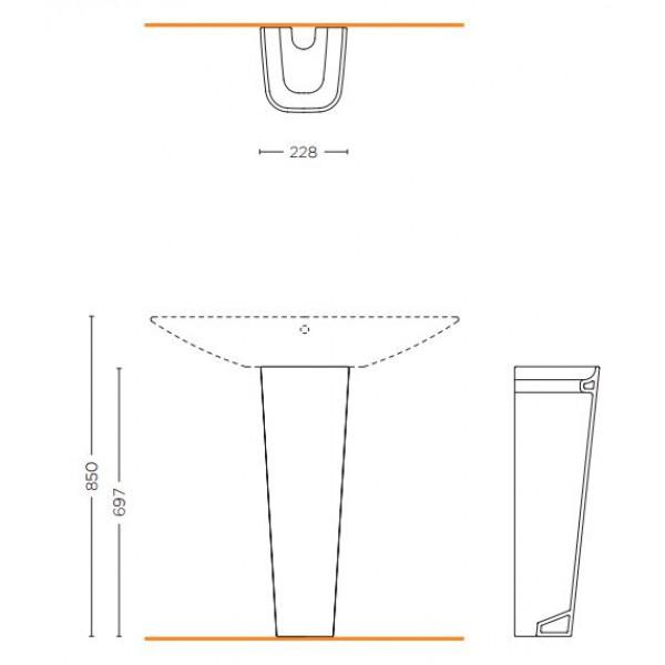 Forsan Ceramics Пьедестал для раковины Forsan Ceramics Club SCLB.S19.F01