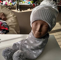 "Набор шапка и шарф ""Сердечко"""