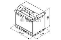 """Аккумулятор BOSCH S4 Silver 60Ah , EN540 , левый """"+"""" , ( Bosch 0 092 S40 060 ) 242*175*190 (Д*Ш*В)"""