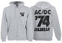 AC/DC - 74 Jailbreak - меланжевая - рок-толстовка на молн