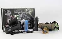 Универсальный налобный фонарик POLICE BL 6866 30000W, аккумуляторный светодиодный фонарь