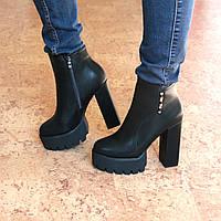 Ботильоны ботинки женские Violetta черные, осенняя обувь