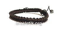 Мужской кожаный плетёный браслет