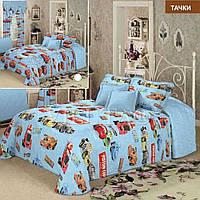 Детское постельное белье Тачки  код 5659 ранфорс ТМ Вилюта Украина голубой машинки