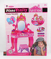 Туалетный столик 661-36 муз.,свет,пианино,стульчик,зеркало,фен