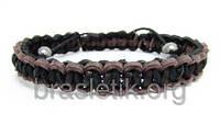 Кожаный плетёный браслет
