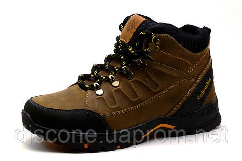 Ботинки зимние мужские на меху Columbia TRACK коричневые кожаные на меху, р. 40 41 42 44 45