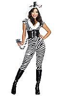 Забавный маскарадный костюм зебры