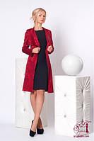 Женский костюм 652 кардиган и платье (красный кардиган черное платье)