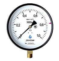 Манометр общего назначения  2,5MПA (100)КЛ 1,5М 20х1,5 (радиальный)