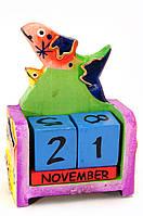 Настольный календарь из дерева Рыба