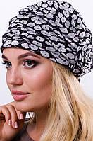 """Женская стильная шапка """"Роза"""" с принтом, разные расцветки"""