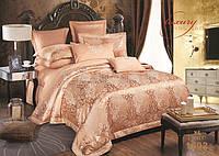 Жаккардовое постельное белье 1602 сатин-люкс 100% хлопок ТМ TIARE Украина евро комплект