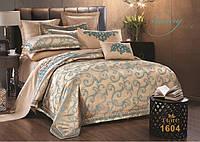 Жаккардовое постельное белье 1604 сатин-люкс 100% хлопок ТМ TIARE Украина евро комплект