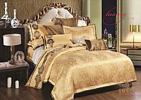 Жаккардовое постельное белье 1611 сатин-люкс 100% хлопок ТМ TIARE Украина евро комплект