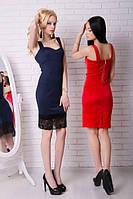 Платье вставки гипюр 20/6015