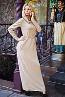 Платье в пол капюшон 20/5065