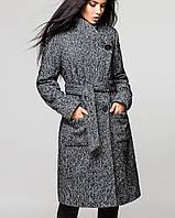 Серое женское пальто   Варшава утепленное leo