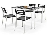 Столовый комплект Halmar Figaro стол и 4 стула черный