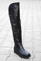 Ботфорты кожаные евро-мех,зима