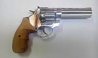 """Револьвер под патрон Флобера Ekol 4,5"""" Chrome (рукоять дерево)"""