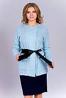 Оригинальная женская кофта-кардиган голубого цвета