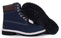 Мужские ботинки Timberland 6 inch Blue (Тимберленд) синие