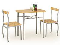 Столовый комплект Halmar Lance 2 стула и стол ольха