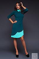 Платье с воротником ассиметричное 02/493