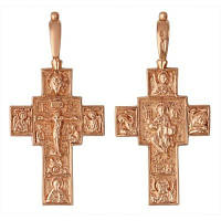 Крестик позолоченный, двухсторонний №530216
