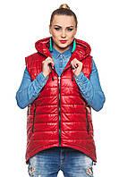 Красная женская жилетка на весну-осень Стелла 44-54 размеры