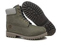 Мужские ботинки Classic Timberland 6 inch Grey (Тимберленд) серые