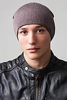 Удлиненная мужская шапка Classic UniX, какао