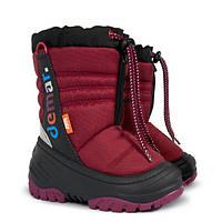 Детские зимние сапоги-дутики Demar (Демар) TEDDY бордовые р.20--29 теплющие, есть опт